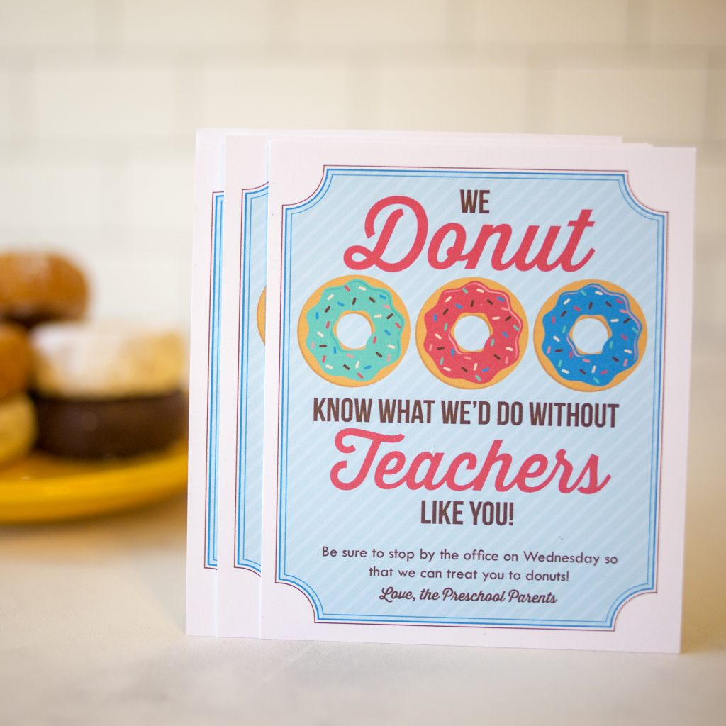 It's just a graphic of Donut Teacher Appreciation Printable with regard to cake